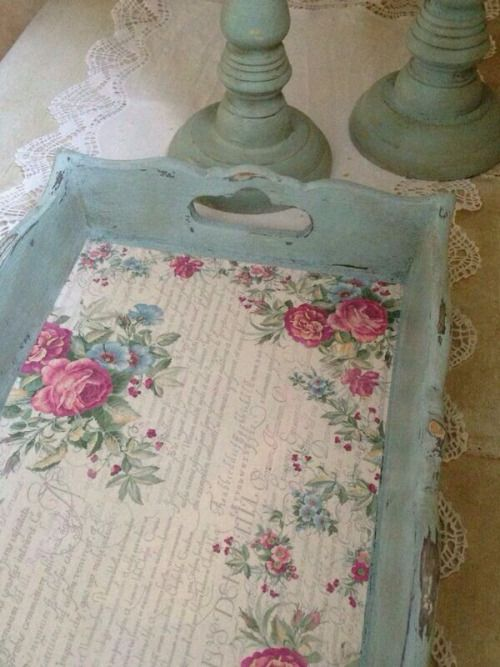 Simply Lovely wooden tray