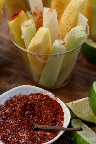 girlichef: Jicama, Cucumber, & Fruit Cups w/ Chile & Lime . My kids would love this!