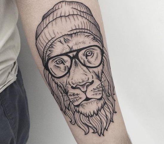 tatuajes hipsters / león