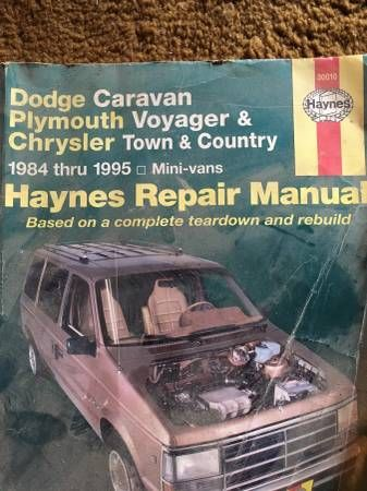 DODGE CARAVAN VOYAGER T&C 1984 THRU 1995 HAYNES REPAIR MANUAL – auto parts – by owner