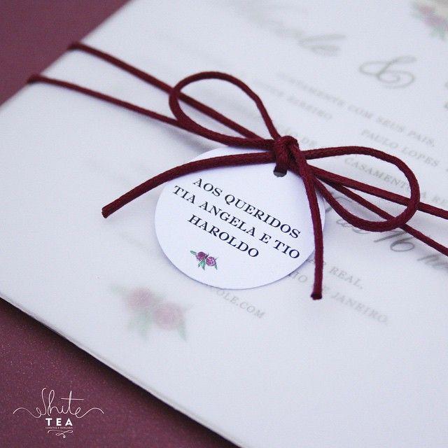 Detalhes: a gente ama. ✨ #whiteteaconvites #convites  #convitedecasamento…