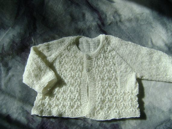 Beautiful lacy 3ply merino jacket, suitable for 3- 6 months. Unisex | Shop this product here: http://spreesy.com/LittleKiwiKnits/4 | Shop all of our products at http://spreesy.com/LittleKiwiKnits    | Pinterest selling powered by Spreesy.com