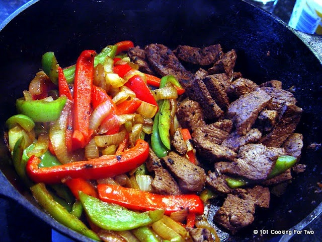 101 Cooking For Two - Everyday Recipes for Two: Beef Steak Fajitas