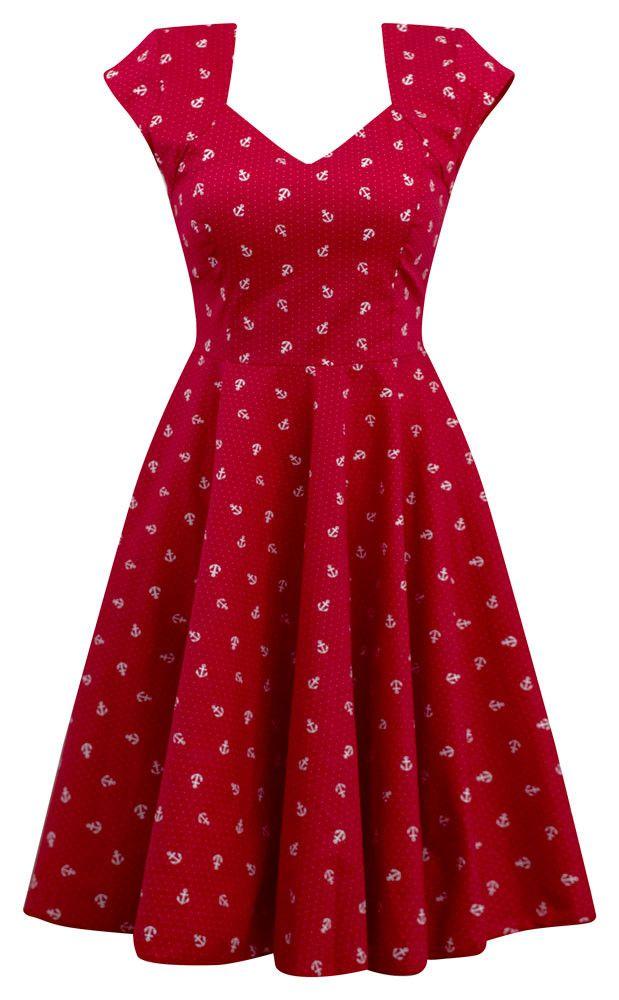 Anchor Print Sailor Girl Swing Dress
