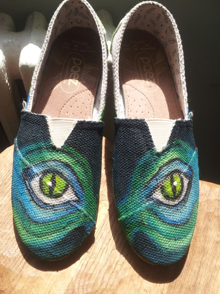 #Handpainted #shoes #textile #waterproofpaint.Theme - The Eyes (Design price starting from 100 Ron) For orders&details please leave a message on Facebook Color MI