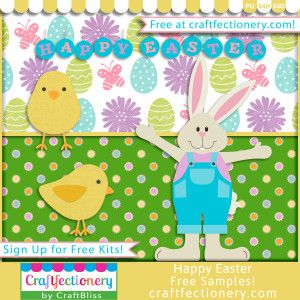 Free Easter Kit at www.craftfectionery.com {Free Easter Easter Bunny Free Easter Kit Free Easter Paper Free Easter Activity Free Easter Bunny Free Easter Scrapbook Free Easter Card Free Easter Kid's Easter Kit Free Easter Pinterest Free Easter Bunny Pinterest Easter Pinterest }