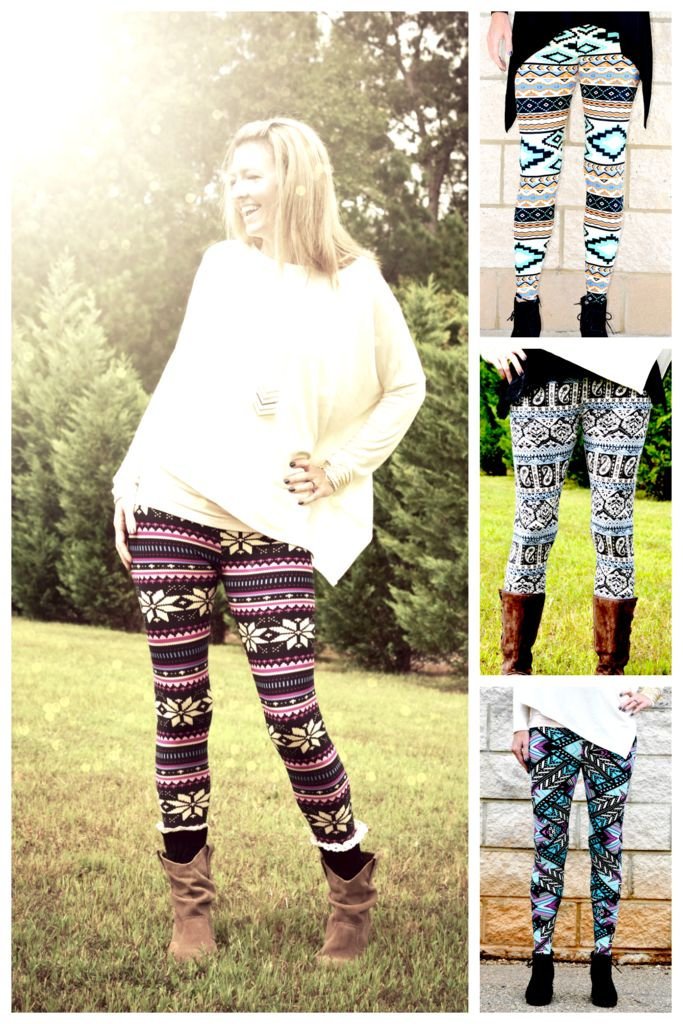 Hot Sale!  You NEED these Aztec Leggings in your life this season!  We've got them at rock bottom prices for one week only!