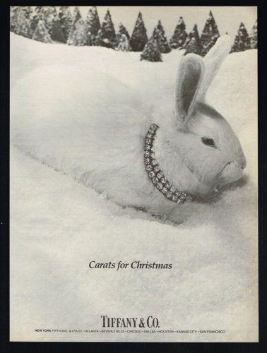 1983-Tiffany-Tiffanys-Diamond-Jewelry-Christmas-Rabbit-Carats-Vintage-Print-Ad