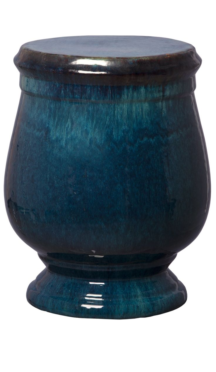 Blue Garden Stool | Blue Ceramic Stools | Blue Porcelain Stool | Blue Ceramic  Stool |
