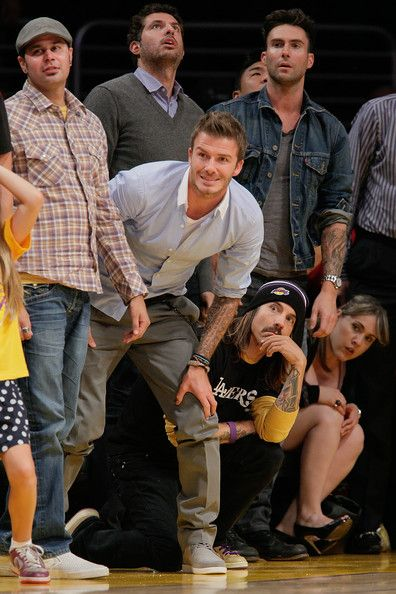 Adam and friends at a Lakers game