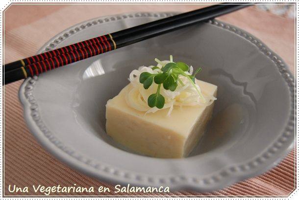 una Vegetariana en Salamanca: Tofu de Garbanzos