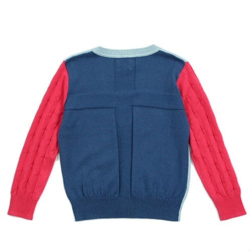Boy Multi-Color Cross Textured Cardigan - Take Up Your Cross