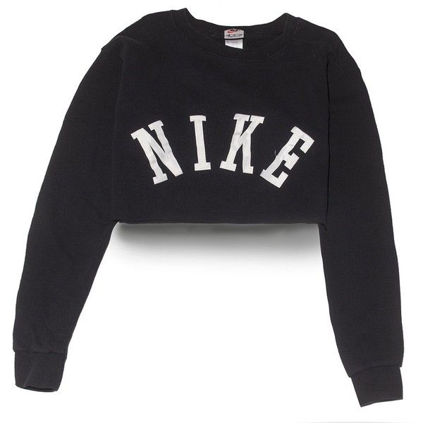 Nike Big Logo Crop Top Medium Perennial Merchants ($30) ❤ liked on Polyvore featuring nike