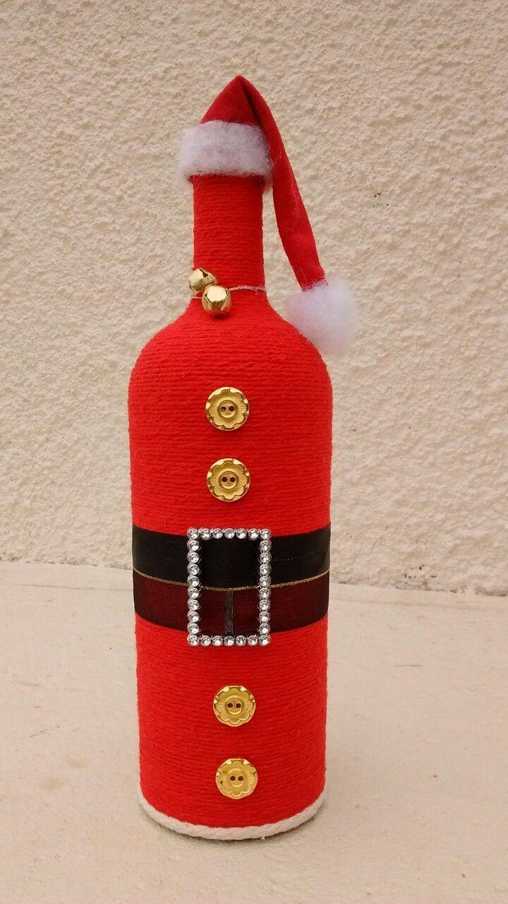 Pin By Komal Gaba On Bottles Christmas Wine Bottle Crafts Diy Wine Bottle Crafts Christmas Bottle Crafts