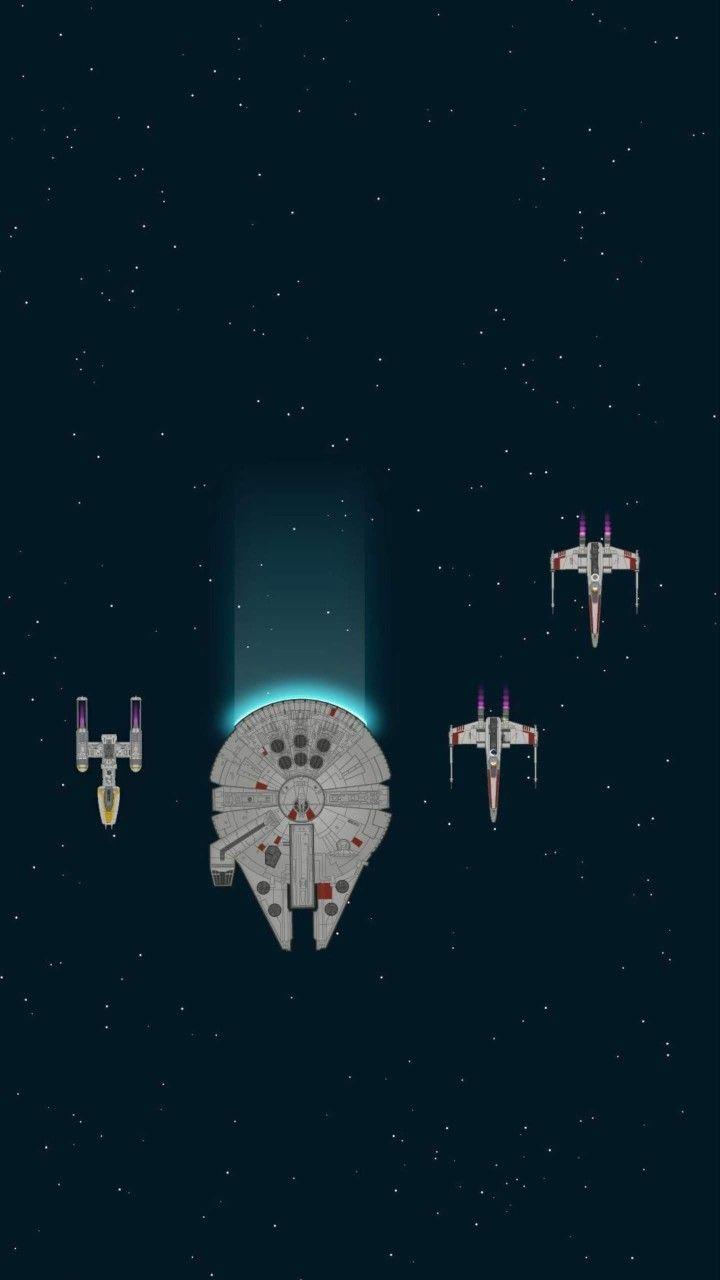Star Wars Millennium Falcon Fan Art Wallpaper