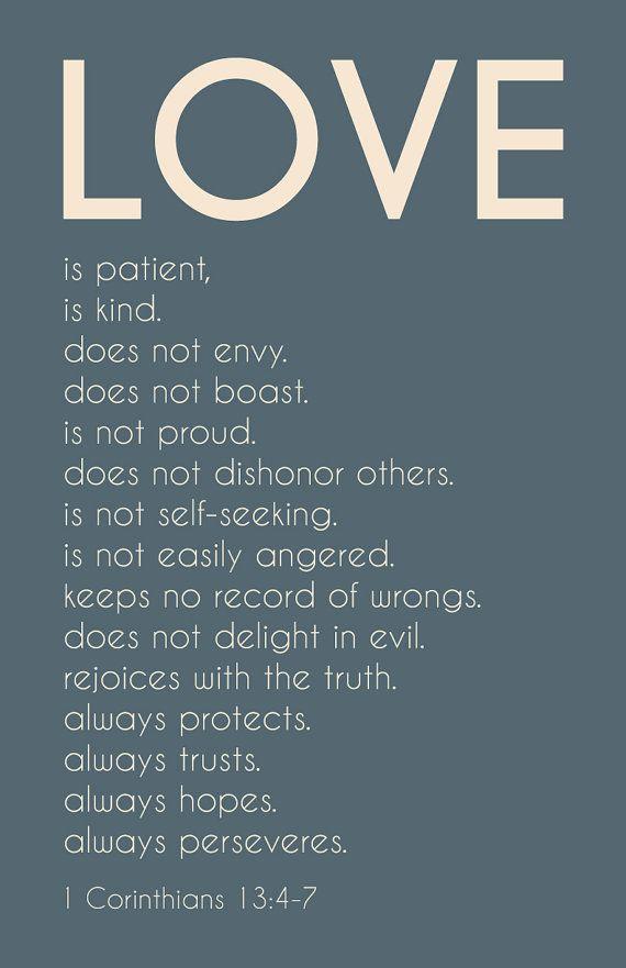 Love is Patient, Love is Kind - 1 Corinthians