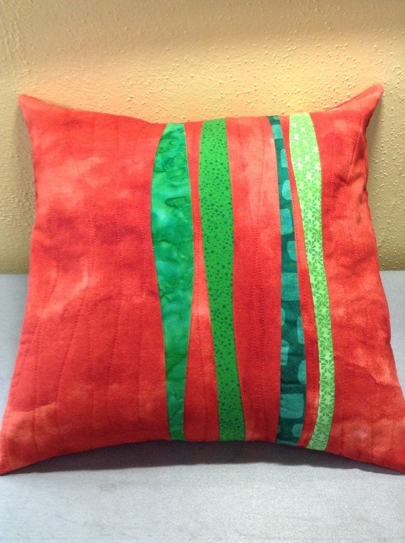 Contempory Quilted Pillow Cover by cvcreations on Etsy, $40.00