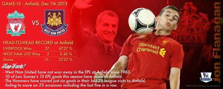 FT : Liverpool 4 - 1 West Ham United Scorrer : (og) Demel 42', Sakho 47', (og) Skrtel 66', Suarez 80', 84'  #RedsOrDead #YNWA