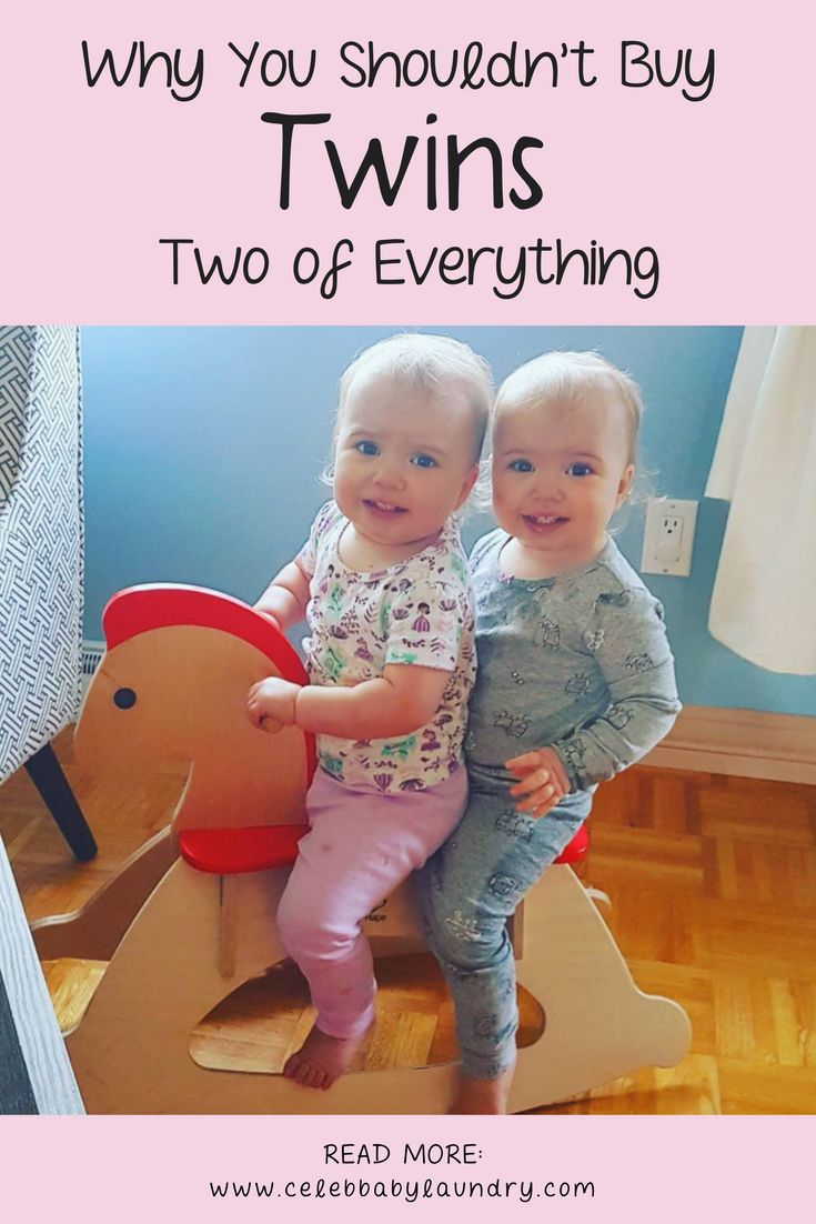 Why You Shouldn't Buy Two of Everything For Twins - By Robyn Good via Celeb Baby Laundry