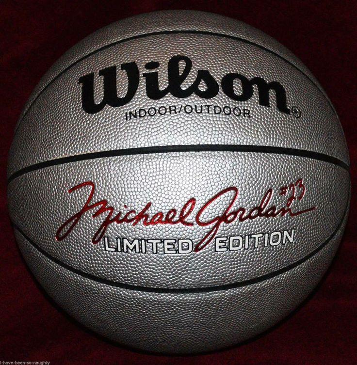 RARE vintage MICHAEL JORDAN basketball - SILVER - Wilson