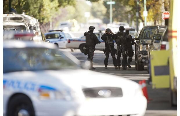 Saskatoon police on Sept. 24, 2013 surrounded a duplex in the 200 block of Avenue S South in an early-morning standoff