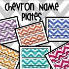 Anyone need some chevron name plates? Just wondering.... #chevron #classroom