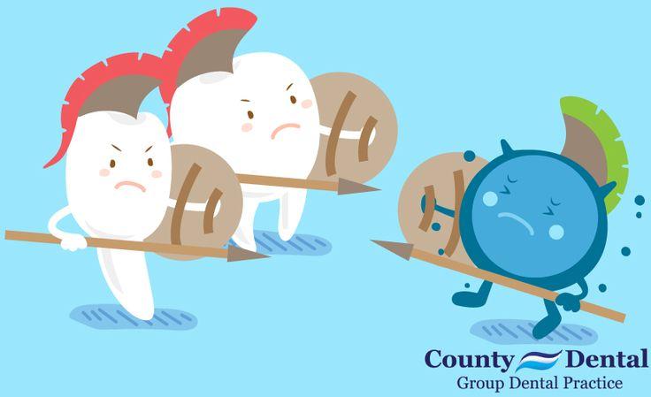 Fight back against plaque   #CountyDental #DentalHumor #Dentist #HudsonValley #NewYork
