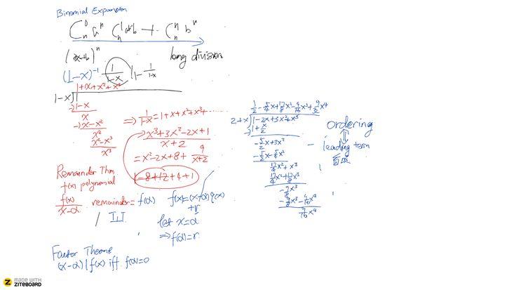 Ziteboard for math tutors