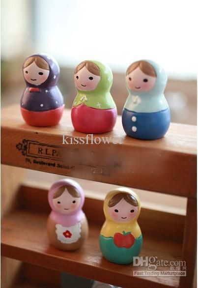 Wholesale Arts And Crafts - Buy Zakka Cute Hand-painted Russian Doll Ornaments / Decorations Christmas Gift $2.86 | DHgate
