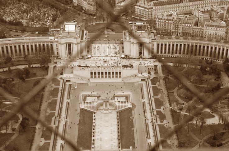 View from upstairs Eiffeltoren
