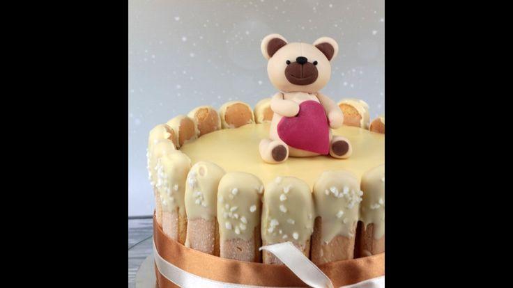 Orchideli - jak zrobić słodkiego misia z lukru na tort urodzinowy dla  dziecka, fondant bear, teddy bear cake topper tutorial.
