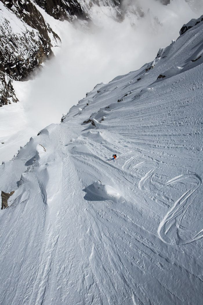 Andreas Fransson in Chamonix