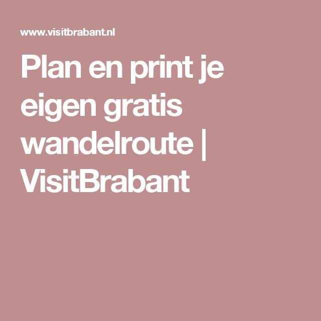 Plan en print je eigen gratis wandelroute | VisitBrabant