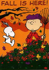 Snoopy. Fall.  :-)