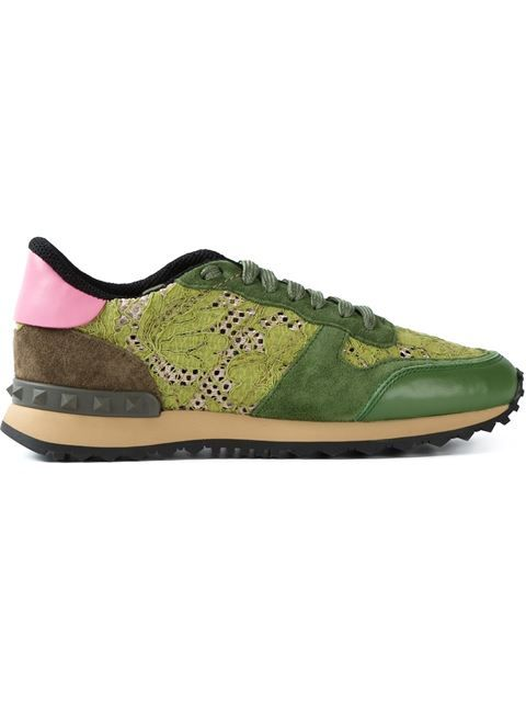 Shop Valentino Garavani 'Rockrunner' lace sneakers in Papini from the world's best independent boutiques at farfetch.com. Over 1000 designers from 300 boutiques in one website.