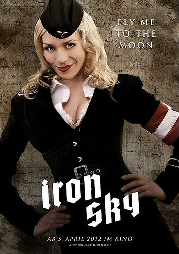 Julia Dietz in Iron Sky… Wow. There is a scene where her skirt gets blown down as a result of the freezing vacuum of space. One of my five favorite scenes ever.