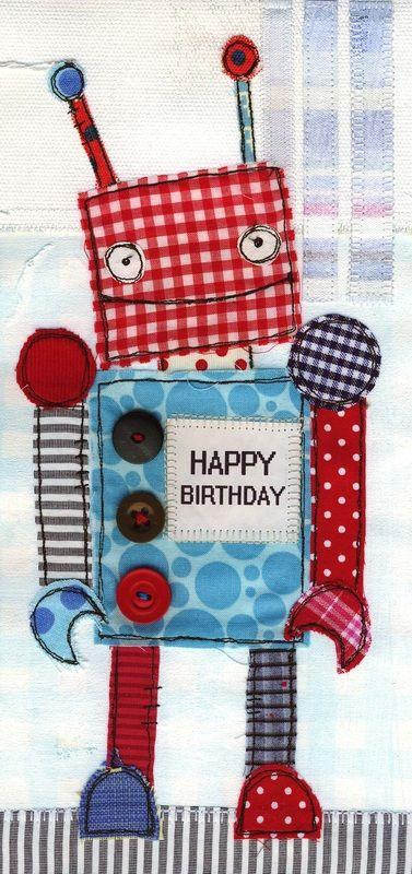robot happy birthday