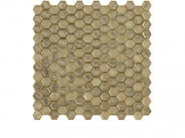 Flow Hexagon Golden Mosaicos De La Coleccin Flow Glass