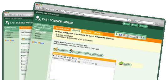 CAST Science Writer: A Grades 7-12 Tool for Report Writing