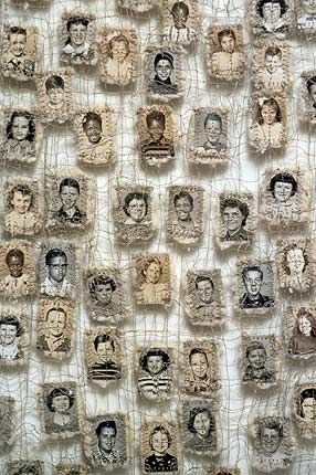 Lisa Kokin, Sewn photos. @Paulina Olguin