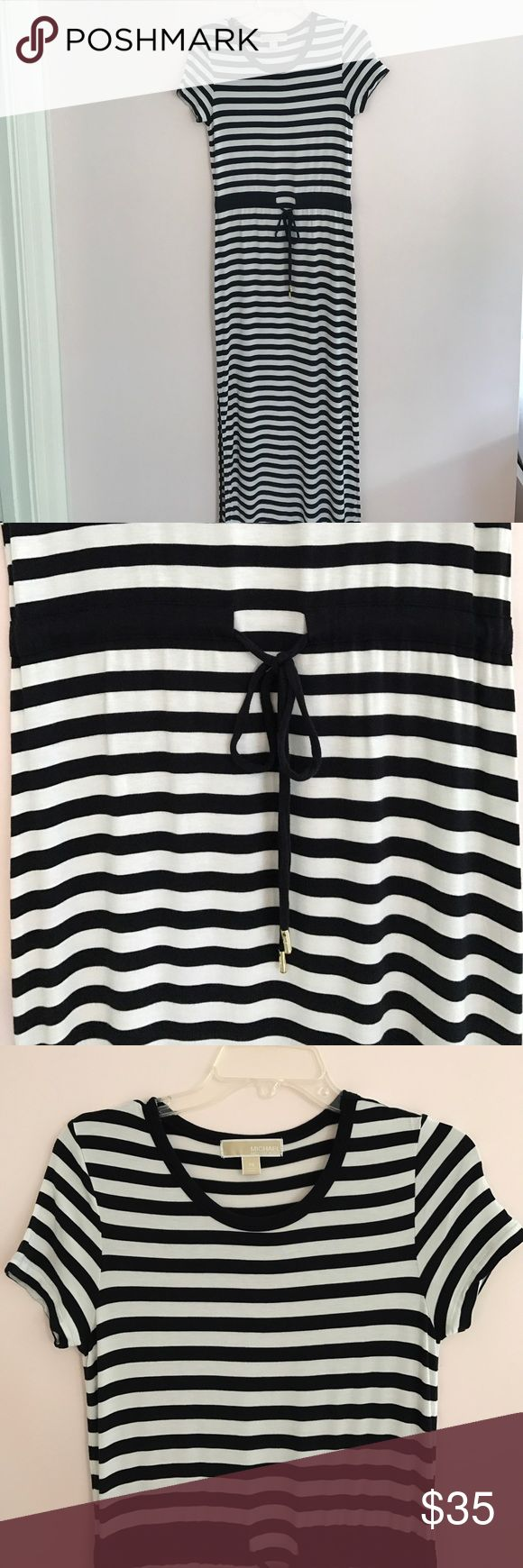 MICHAEL KORS STRIPED TSHIRT MAXI DRESS So comfortable and easy to wear! PERFECT CONDITION! Looks great with wedges and sandals! MICHAEL Michael Kors Dresses Maxi