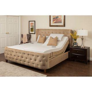 Sleep Zone Hermosa 8 Inch Split King Size Memory Foam Mattress Adjustable  Set |