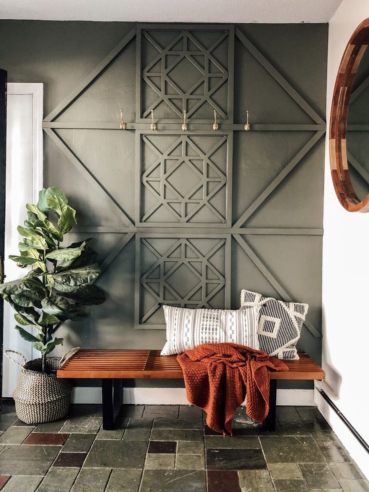 Our New Entryway: With a DIY Wood Feature Wall • SimplyOnEden
