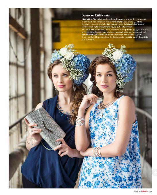 @Pirkka    Flowers/ Cover Photo for Pirkka-magazine by Eero Kokko, AD: Anne Ala-Jokimäki. Style, set up, make-up, hair  fashion story by Ida Jokikunnas
