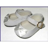 White Classic Patent Elegant Mary Jane Doll Shoes Fit Bitty Baby and Terri Lee (Toy)