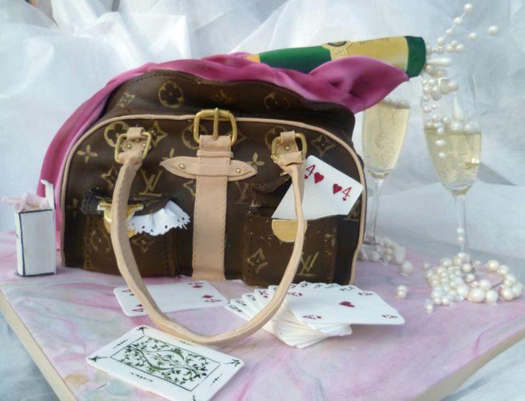 Edible Cake Images Louis Vuitton : Louis Vuitton handbag/Veuve Cliquot cake. All edible ...