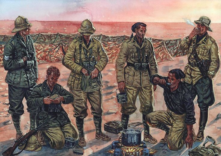 1ª Divisione Camicie Nere '23 Marzo', Libya, Spring 1940 - preparing to surrender, no doubt.