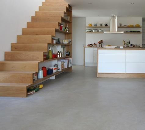 Storage: Kitchens Under the Stairs : Remodelista  Omdat we ook een trap in de keuken hebben