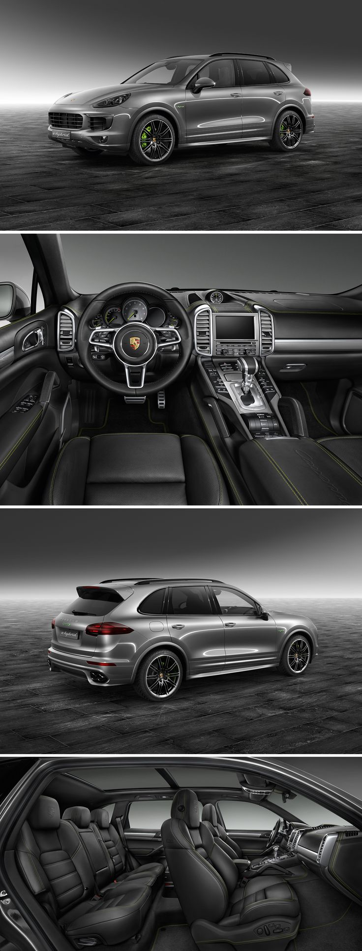 This Cayenne S E-Hybrid from Porsche Exclusive is simply electrifying. From the first glance and down to the smallest detail. Various Porsche Exclusive options emphasize its sporty, muscular appearance.   *Combined fuel consumption in accordance with EU 6: 3.4 l/100 km, CO2 emissions 79 g/km; Electricity consumption 20.8 kWh/100 km