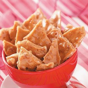 Cinnamon Walnut Brittle Recipe -Seasoned with cinnamon, this spicy brittle is a great gift or family snack to munch while watching Christmas movies. Best of all, it goes together quick as a wink in the microwave.
